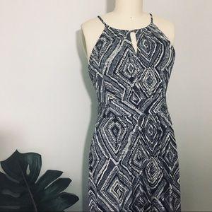 Loft • Geometric Print Maxi Dress